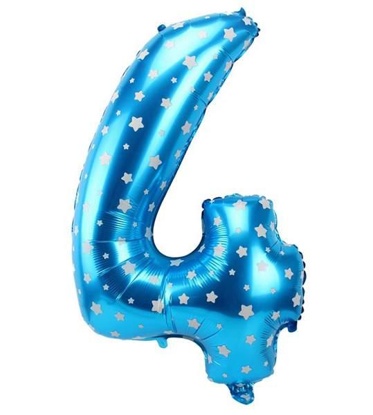 Μπαλόνι 40 εκ μπλε αστέρια Αριθμός 4