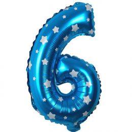 Μπαλόνι 40 εκ μπλε αστέρια Αριθμός 6