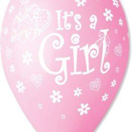 12″ Μπαλόνι Its a girl κουνελάκι