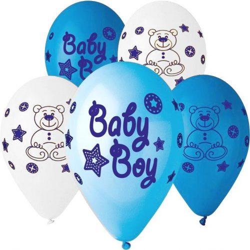 """12"""" Μπαλόνι Baby boy αρκουδάκι"""