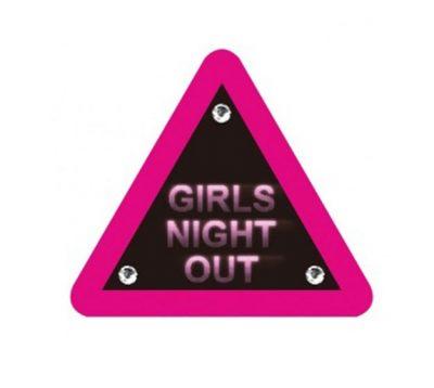 """Προειδοποιητική Πινακίδα """"Girls Night Out"""" 16 εκ"""