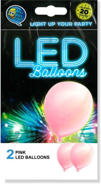 """12"""" Ροζ Μπαλόνι με φωτάκι LED (2 τεμ)"""
