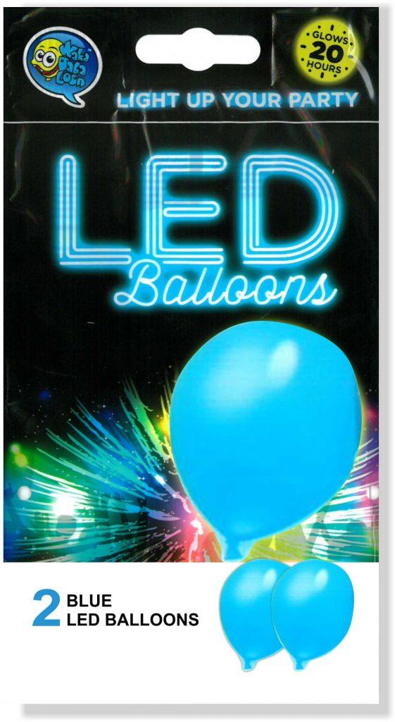 """12"""" Γαλάζιο Μπαλόνι με φωτάκι LED (2 τεμ)"""