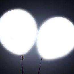12″ Λευκό Μπαλόνι με φωτάκι LED (2 τεμ)