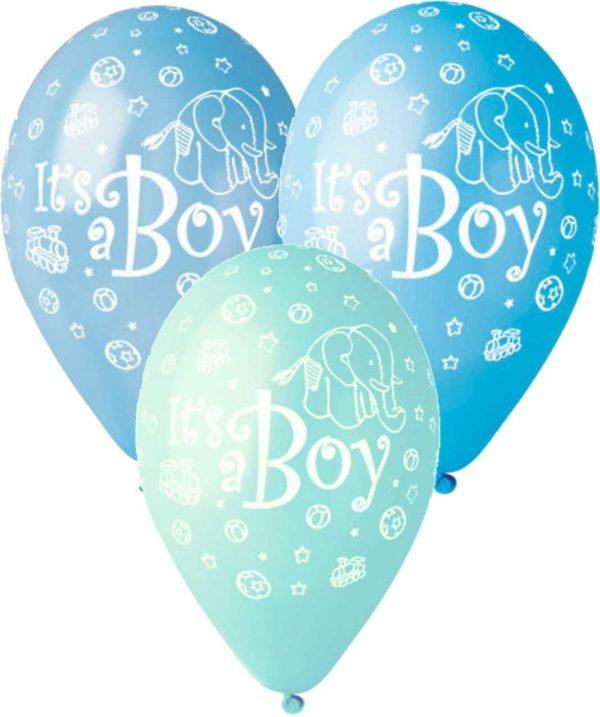 """12"""" Μπαλόνι Its a boy ελεφαντάκι"""