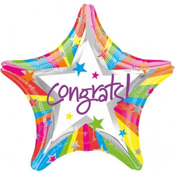 Μπαλόνι αποφοίτησης αστέρι Congrats 45 εκ