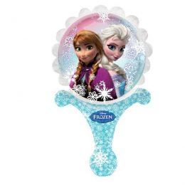 Μπαλονάκι Frozen Elsa & Anna με λαβή 30 εκ