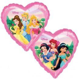 Μπαλόνι Καρδιά Πριγκίπισσες 2-πλευρές 45 εκ