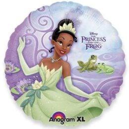 Μπαλόνι Πριγκίπισσα & βάτραχος μωβ 45 εκ