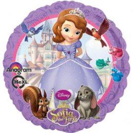 Μπαλόνι Πριγκίπισσα Σοφία στρογγυλό45εκ