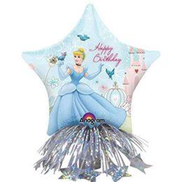 Μπαλόνι αστέρι Σταχτοπούτα με βαρίδιο & κορδέλες 36 εκ