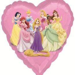Μπαλόνι ροζ καρδιά Πριγκίπισσες Disney 45 εκ