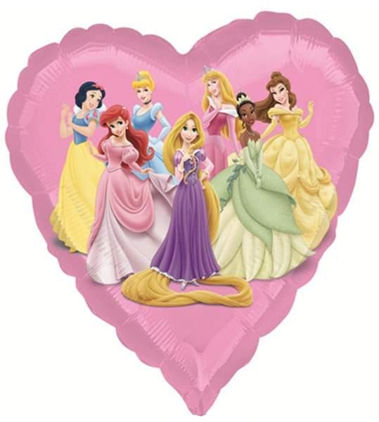Μπαλόνι ροζ καρδιά Πριγκίπισσες Disney