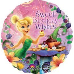 """Μπαλόνι Tinkerbell """"Sweet bday wishes""""45 εκ"""