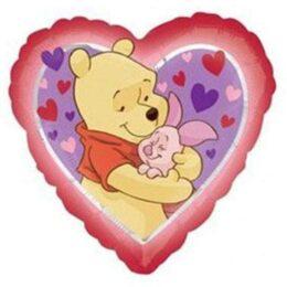 Μπαλόνι Winnie & γουρουνάκι Καρδιά45 εκ