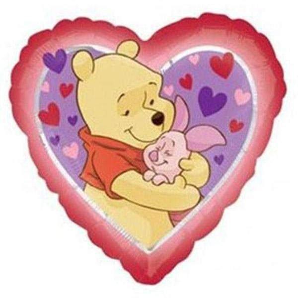 Μπαλόνι Winnie & γουρουνάκι Καρδιά 45 εκ