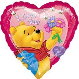 """Μπαλόνι Winnie Καρδιά """"I Love you"""" 45 εκ"""
