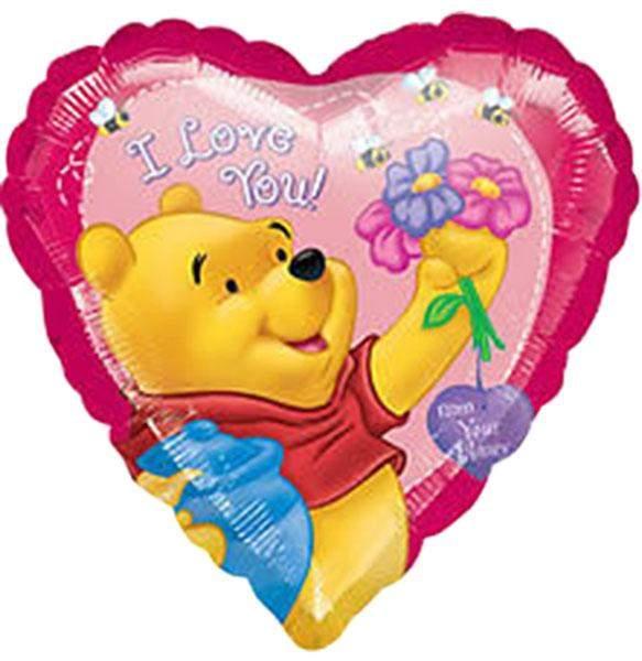 Μπαλόνι Winnie the pooh Καρδιά 'I Love you'
