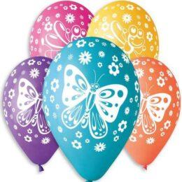 12″ Μπαλόνι τυπωμένο Πεταλούδες
