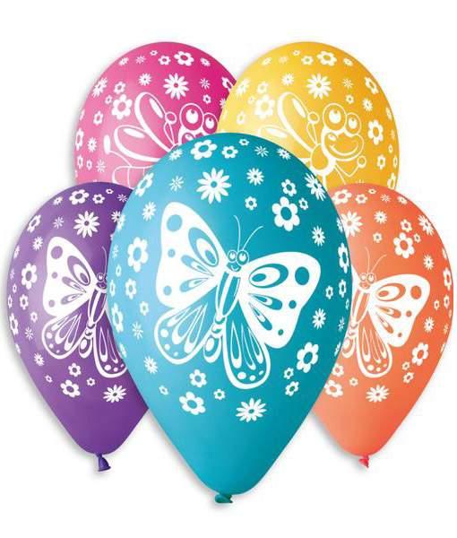 """12"""" Μπαλόνι τυπωμένο Πεταλούδες"""