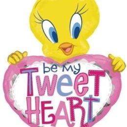 """Μπαλόνι Tweety ροζ καρδιά """"Be my TweetHeart"""" 110 εκ."""