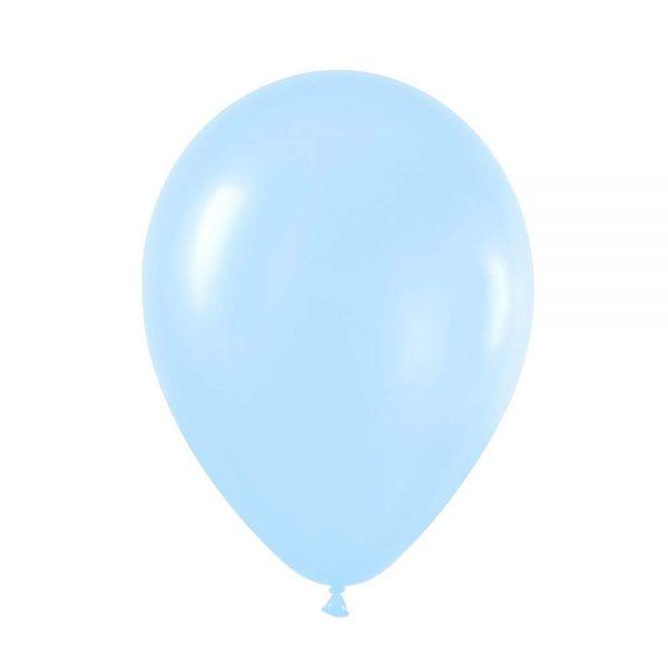 """9"""" Περλέ Γαλάζιο λάτεξ μπαλόνι"""