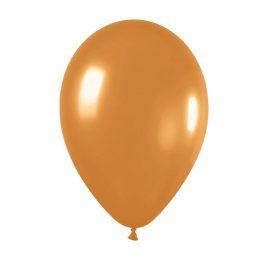 9″ Μεταλλικό Χρυσαφί λάτεξ μπαλόνι