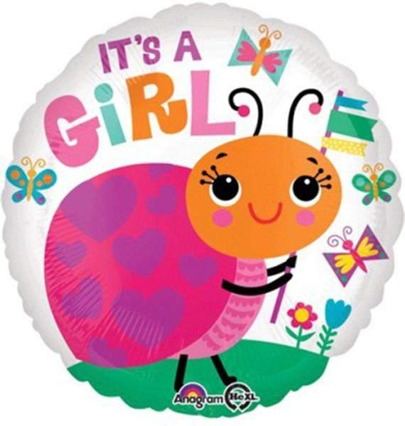 Μπαλόνι Its a Girl πασχαλίτσα 45 εκ