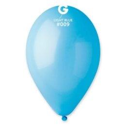9″ Γαλάζιο λάτεξ μπαλόνι