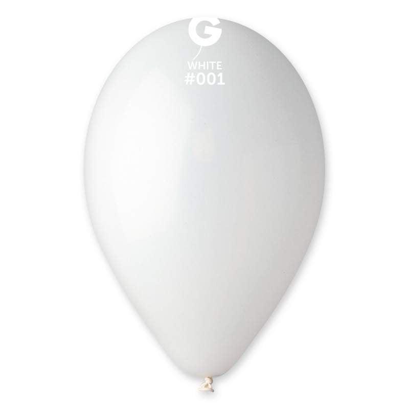 """9"""" Άσπρο λάτεξ μπαλόνι"""
