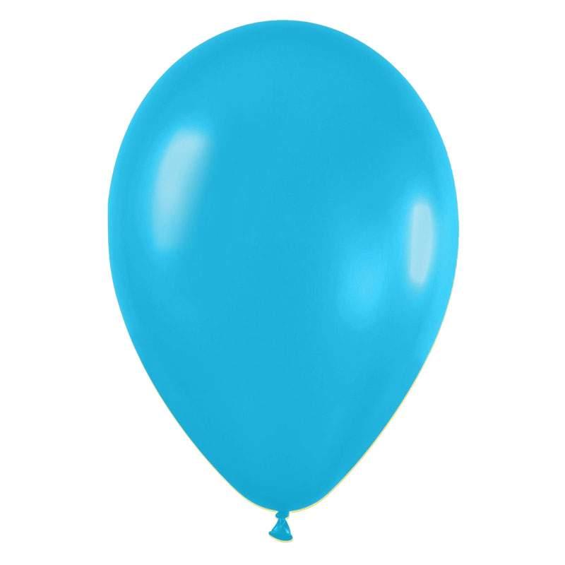 """9"""" Γαλάζιο Καραϊβικής λάτεξ μπαλόνι"""