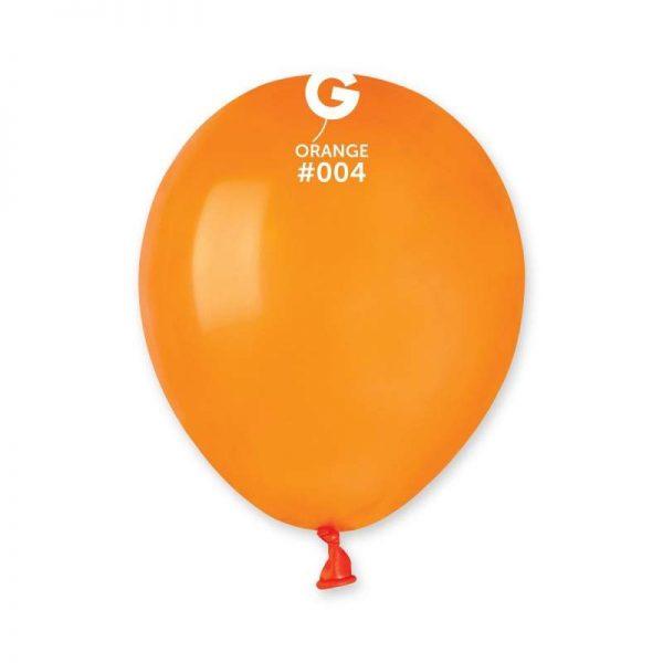 """5"""" Πορτοκαλί λάτεξ μπαλόνι"""
