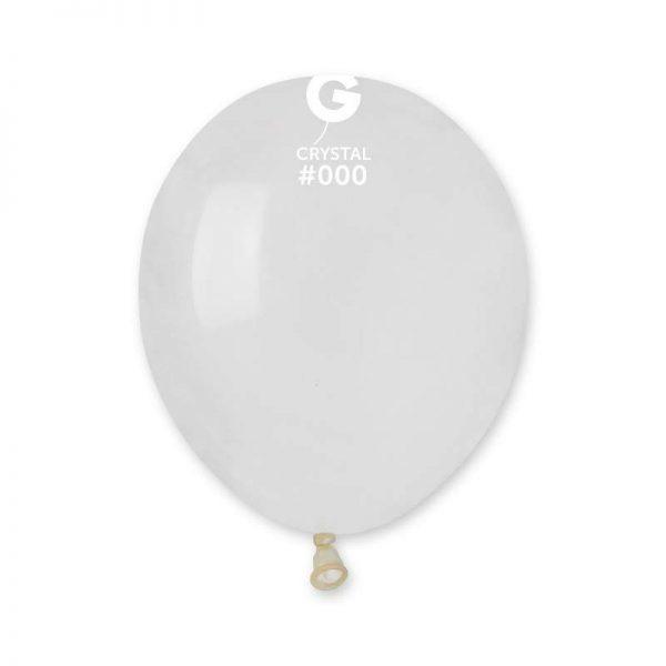 "5"" Crystal Διάφανο λάτεξ μπαλόνι"