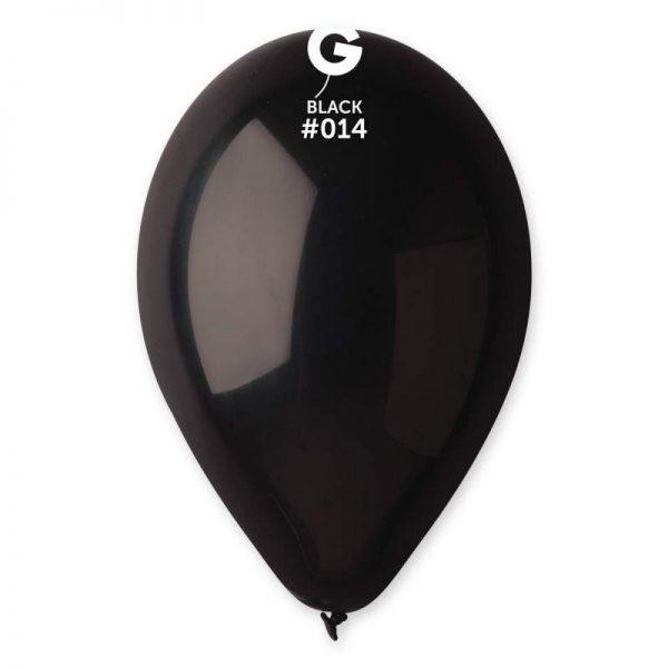 """9"""" Μαύρο λάτεξ μπαλόνι"""