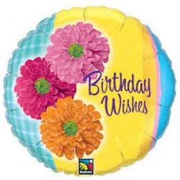 Μπαλόνι για γενέθλια Λουλούδια Birthday Wishes