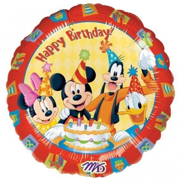 Μπαλόνι Mickey & παρέα Happy Birthday 45 εκ
