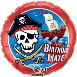 Μπαλόνι Πειρατικό Καράβι Birthday Mate 45 εκ