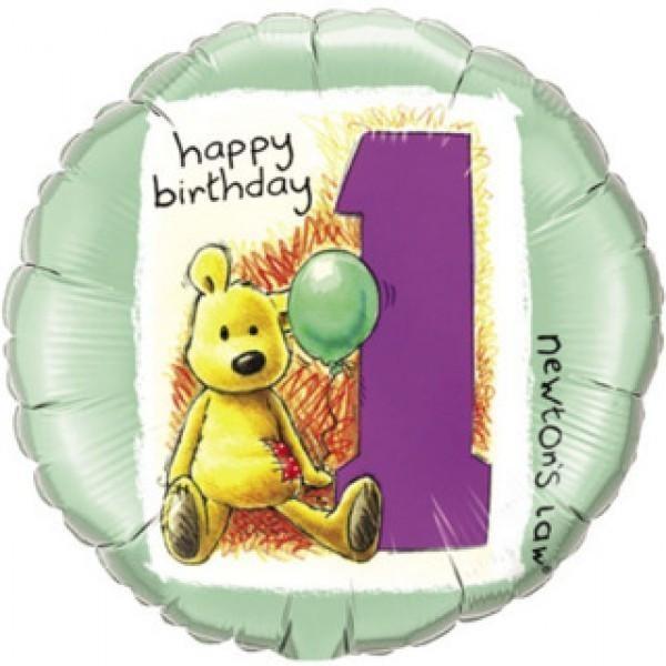 Μπαλόνι Αρκουδάκι 1st Birthday 45 εκ
