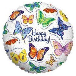 Μπαλόνι για γενέθλια Πολύχρωμες Πεταλούδες 'Happy Birthday'