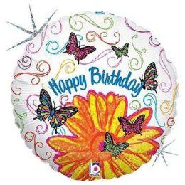 Μπαλόνι για γενέθλια Μαργαρίτα & Πεταλούδες 45 εκ