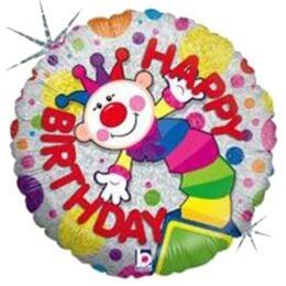 Μπαλόνι Κλόουν Happy Birthday 45 εκ