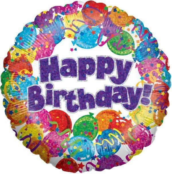 Μπαλόνι Happy Birthday balloons & confetti 45 εκ