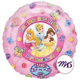 Μουσικό Μπαλόνι Πριγκίπισσες Disney Happy Birthday