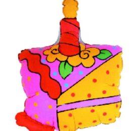 Μπαλόνι για γενέθλια Τούρτα με κεράκι 'Happy Birthday'