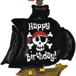 Μπαλόνι Πειρατικό Καράβι Happy Birthday 116 εκ