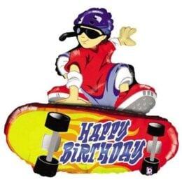Μπαλόνι Skateboard Happy Birthday 96 εκ