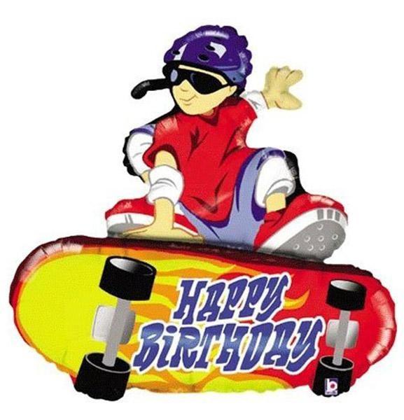 Μπαλόνι για γενέθλια Skateboard Happy Birthday