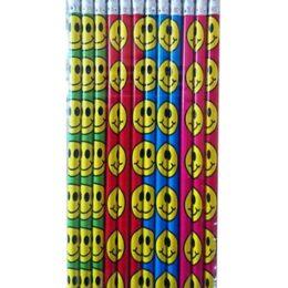 Μολυβάκια σε 4 χρώματα Smile Face (12 τεμ)