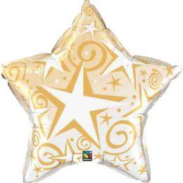 Μπαλόνι Χρυσό αστέρι celebrate 91 εκ