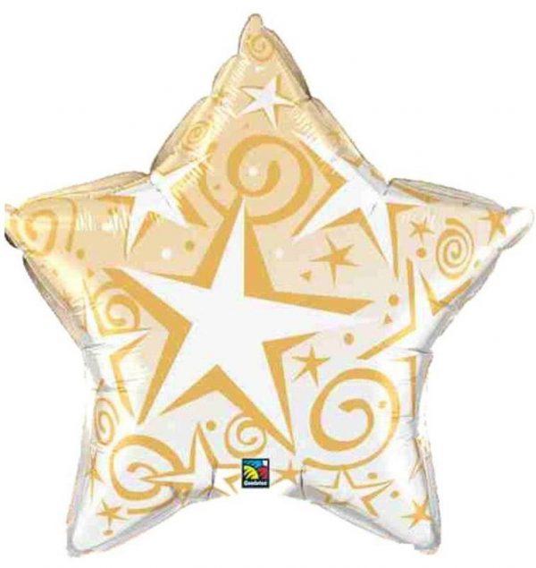 Μπαλόνι χριστουγεννιάτικο χρυσό αστέρι celebrate